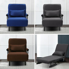 Folding Z Fabric Sofa Bed Couch Chair Seat Armchair Single Beds Recliner Sleeper