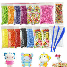 15 Pcs Colorful DIY Styrofoam Balls For Slime Small Tiny Foam Beads Floam Filler