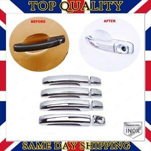 Chrome Door Handle Cover 4 door S.STEEL For Vauxhall Opel Movano B 2010-UP