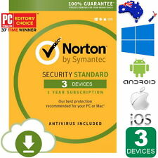 NEW Norton Security Standard AntiVirus 2017 3 Devices Windows macOS Android iOS