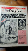 "Ron Barrett - the daily blab - rare 1981 ""Mad Magazine "" -type humor / satire bo"