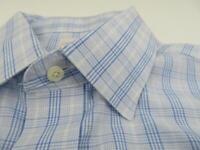 Brooks Brothers Men's Long Sleeve Dress Shirt Size 16 2/3 Button Down Blue Plaid