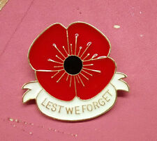 Banquet Badge White Enamel Poppy Brooches Pins Broach Remembrance Day Gifts Bulk
