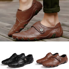 Men's business casual slip resistant soft surface flat shoes
