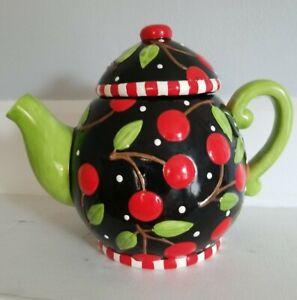 Mary Engelbreit Sakura Cherry Teapot Vintage 1995