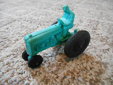Old Vintage Toy Auburn Rubber Tractor Truck Farm Vehicle with Driver Teal Green