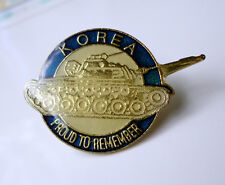 ZP94 Military Collectors Korean War Lapel Pin Badge Pershing Tank Army Amoured