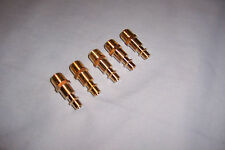 """5 PC AIR FITTINGS COUPLER MALE BRASS 1/4"""" NPT"""