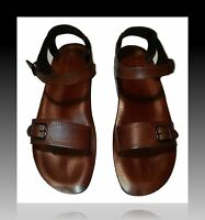 New Leather Sandals Shoes Men's Summer Biblical Mules JESUS Slippers Sizes 6-11½