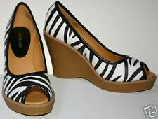 In Style Zebra Peep Toe Baby Doll Platforms Shoes  6.5