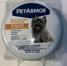 PetArmor Flea and Tick Collar for Small Dogs 2 Collars 12 Months Protection