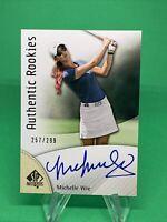 2013 SP Authentic GOLF #11 MICHELLE WIE  Authentic Rookies Autograph #/299 ⛳️