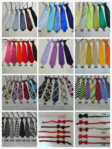 Girls/Boys Fashion Elastic Neck Tie & Bow Tie Toddlers Children Kids