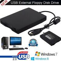 "3.5"" 1.44MB USB Slim External Floppy Disk Drive Reader for Laptop PC Computer US"
