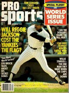 1977 Nov Dell Pro Sports Baseball magazine, Reggie Jackson, New York Yankees~VG