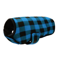 22-28'' Chest Blue Grid Dog Clothes Winter Warm Vest Coats for Medium Large Dogs