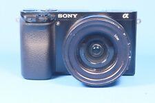 Sony Alpha A6000 24.3MP Digital Camera Body Black with E PZ 16-50mm lens BROKEN