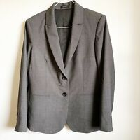 Theory Women's Blazer 10 Virgin Wool Classic Gray Jacket Career