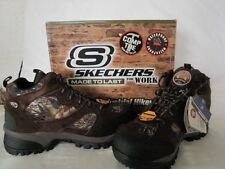 NEW SKECHERS MENS RUGGED WATERPROOF INDUSTRIAL HIKERS WORK ANKLE BOOTS CAMO 9M