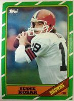 Bernie Kosar 1986 Topps Rookie Card RC  #187 Sharp! Cleveland Browns