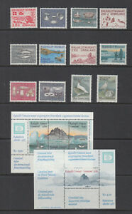 Greenland 1986 - 1987 Complete Mint Never Hinged