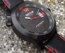 Sector XXL Uhr 48 mm Schwarz-Rot #3251 HAU Herrenuhr Datum