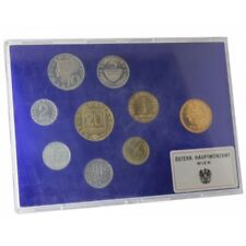 1987 AUSTRIA OSTERREICH DIVISIONAL 8 COINS + MEDAL MINT VIENNA PROOF MF2966