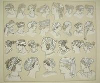 Sombreros Tradicional Grecia Antigua, Massias Firmin Didot c1888 Costume