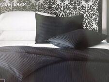 HOME Black Damask Stripe Twin Reversible Comforter Cover NIP