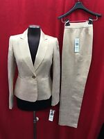 ALBERT NIPON  HOLIDAY PANT SUIT/GOLD/NEW WITH TAG/RETAIL$280/INSEAM 31'/size 14/