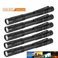 5 Pcs Mini LED PenLight Portable Pen Light Clip Flashlight Lamp Waterproof