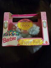 Mattel Barbie PUPPY RUFF Mechanical Plush Dog 1993 #11069 NIB VTG