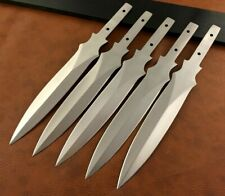 Lot of 5 Handmade 420 High Carbon Steel Hunting Knife Blank Blades-Dagger-C111