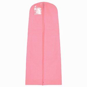 Hoesh Polka Dots Breathable Long Zipped Bridal Wedding Dress Covers Garment Bags