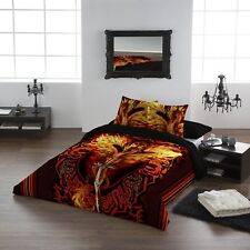 DRAGON FLAME BLADE - Duvet & Pillows cover set - Kingsize Bed /NEXT DAY DELIVERY