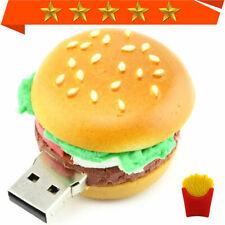 USB Flash Drive 1-64G creative pendrive Cartoon fries Hamburger Memory stick lot