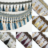 1M Curtain Trim Tassel Fringe Fringing Edging Beaded Lace Braid Sewing Crafts