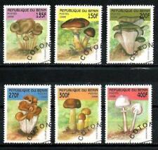 Champignons Bénin (5) série complète de 6 timbres oblitérés