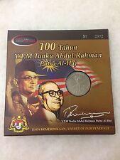 (JC) 100 Tahun Tunku Abdul Rahman Coin Card 2005 with box and serial no 2972
