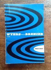 PÊCHE catalogue Wyers & Bréhier  1962-1963 118 pages / bon état