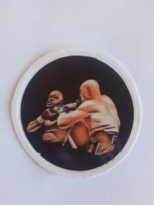 Tyson Fury v Deontay Wilder  sublimation style iron or sew on 3 inch patch badge
