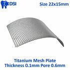 DSI Dental Implant Titanium Surgical Barrier Membrane Mesh Plate 0.1mm 22x15mm
