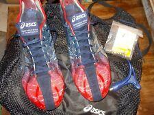 Asics Gun Lap Track & Field Spikes of Racing Elite W/SPIKES, TOOL & LOGO BAG