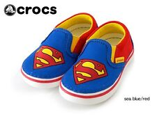 Crocs Boys Kids Hover Superman Slip On Sneaker Shoes Sz 13 c Red Blue Yellow NEW