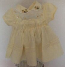 "18-16"" ANTIQUE BABY DOLL DRESS YELLOW VERY NICE"