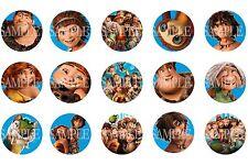15 Pre-Cut The Croods 1 Inch Bottle Cap Images