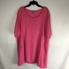 Flax Women's Size L 100% Linen Pullover Tunic Top in Sorbet Pink