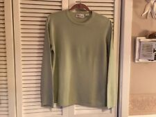 Westbound ladies sz large light green crew neck 100% cashmere pullover sweater