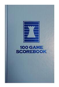 Atomic Blue Chess Hardcover Scorebook - 100 Games - USA Made