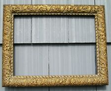 Gold Gilded Antique Aesthetic Eastlake Victorian Ornate Picture Frame 11 x 15